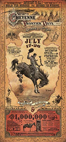 Home of Art Cheyenne Wyoming Frontier Days Rodeo Western Poster by Bob Coronato