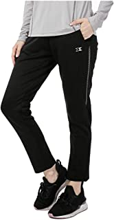 ZZEWINTRAVELER Women's Track Pants Running Gym Pants Breathable Quick Drying Zipper Pockets Outdoor Sports Pants