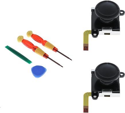 Baosity 2個 アナログ ジョイスティック キャップ ニンテンドースイッチ Joy-con用 L/Rセンサー コントロール 修理ツール付