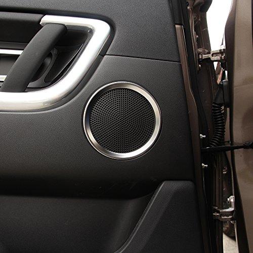 Pour Discovery Sport 2015-2018 ABS Anneau de garniture de haut-parleur de porte de voiture Accessoires 6 pièces (argent mat)