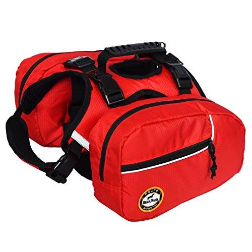 BLACKDOGGY Perro Mochila Paquete Ajustable para la excursión al Aire Libre Saddlebag Estilo Accesorio del Perro (S)