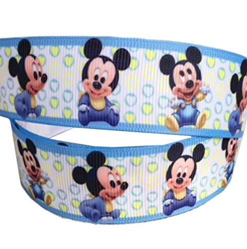 2m x 22mm), diseño de bebé Mickey Mouse Disney cinta para Baby Showers, pasteles, bautizos, regalo, regalos