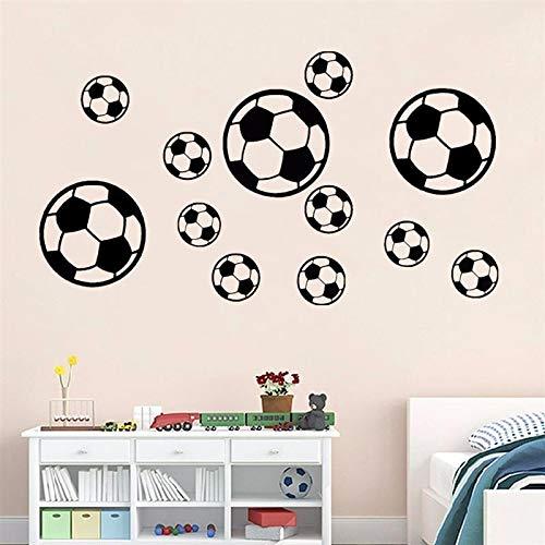 DIY Aufkleber Fußball Fußball PVC Wandaufkleber Kinder Schlafzimmer Wohnzimmer Dekoration, StarLightd