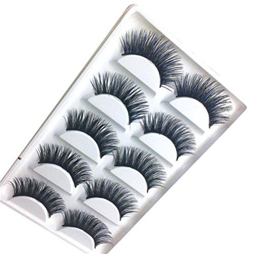 SMILEQ Women 3D False Lashes Fluffy Strip Eyelashes Long Natural Party (I)