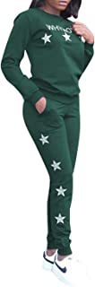 Adogirl Women's 2 Piece Outfits Tracksuits V Neck Tops and Skinny Pants Jog Set