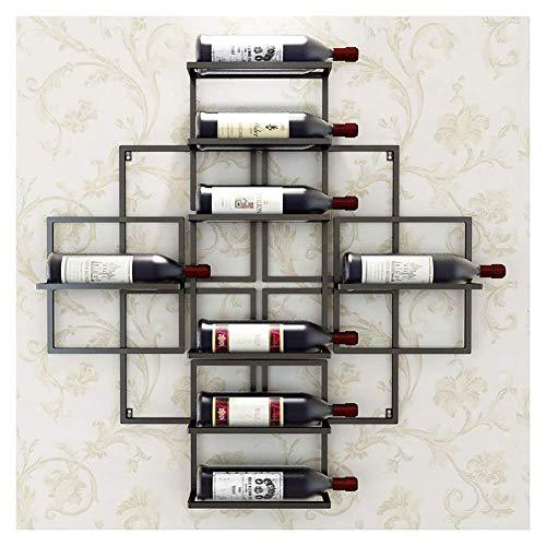 Haushaltsprodukte Weinregale 8 Flaschen Weinregale an der Wand Stilvolle moderne Weinregale Ausstellungsständer für Bars Keller Weinkeller Küchen Esszimmer Große Kapazität Kein Regal Lagerung Sie