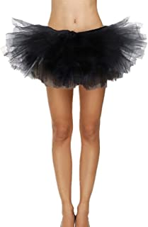 Sexy Adult Womens Classic 5 Layered Tulle Fancy Ballet Dress Tutu Skirts