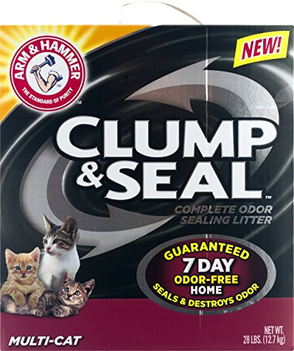 ARM & HAMMER Clump & Seal Platinum Clumping Cat Litter, Multi-Cat, 27.5lb