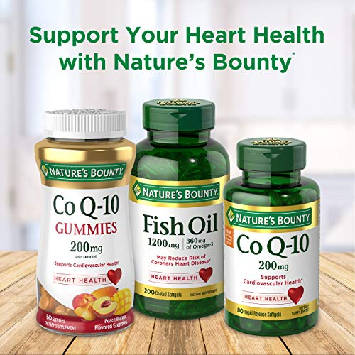 Fish Oil by Nature's Bounty, Dietary Supplement, Omega 3, Supports Heart Health, 2400 Mg, 90 Coated Softgels