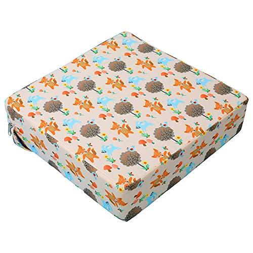 Yusheng - Cuscino rialzante per sedia da pranzo, cuscino per seggiolone, rimovibile, lavabile, con cintura regolabile, per bambini e neonati