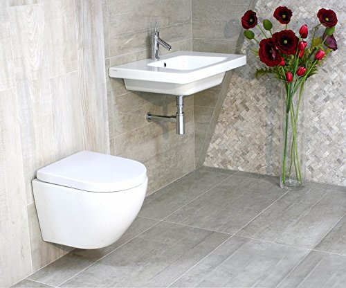 LAVITA KERAMIK HÄNGE-WC-TOILETTE #92035 SPÜLRANDLOS + SOFT-CLOSE - 7