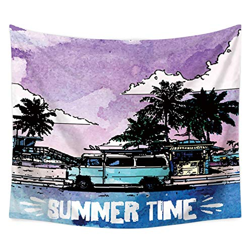 Tropical Plants Printed Wall Hanging Large Sea Boat Tapestry Home Decor Bed Sheets Summer Beach Cover Blanket Table Cloth Mats,4,150x100cm