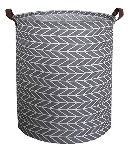 CLOCOR Large Round Storage BasketsCollapsible Storage Bin Dirty Laundry Hamper Baskets for Baby Boys and Girls Office Bedroom Toys Nursery Kids Clothes Gift BasketArrowhead