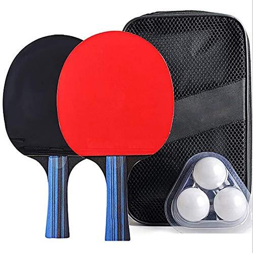 Juego de Tenis de Mesa 2 Raquetas de murciélagos de Tenis de Mesa y 3 Pelotas de Ping Pong Juegos de Mesa para la Escuela, el hogar, la Oficina, los Deportes