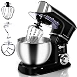 Stand Mixer, Techwood Electric Food Mixer, 6QT 800W 6-Speed...