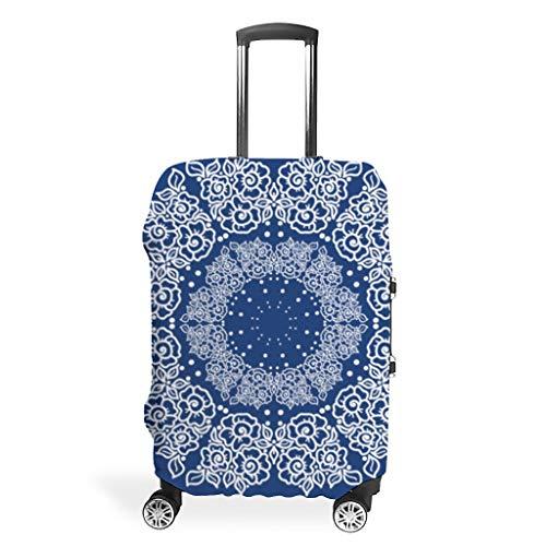 Funda protectora para maleta de mandala azul medianoche con funda protectora...