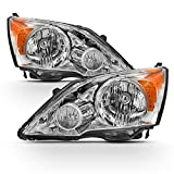 ACANII - For 2007-2011 Honda CRV CR-V Headlights Headlamps Assembly Factory OE Style Replacement Driver + Passenger Side