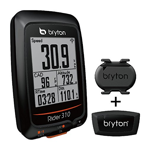 "Bryton Rider 310 GPS Cycling Computer (1.8"" Display, 310T - with Smart Cadence + HRM)"