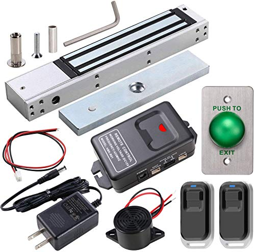 UHPPOTE Access Control Outswinging Door Electric Magnetic 600lbs Lock Kit Remote Control, Maglock with UL Listed