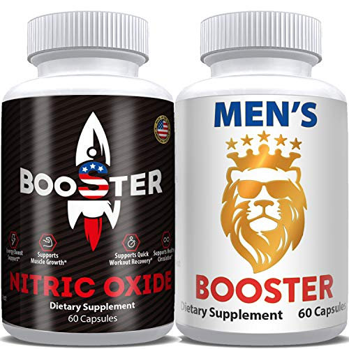 Horny Goat Weed Extract & Nitric Oxide Pills- Male Test Booster Supplements Complex, Natural Powerful Performance & Endurance Enhancement, Ageless Energy, Vitality, Stamina for Men, Made in USA