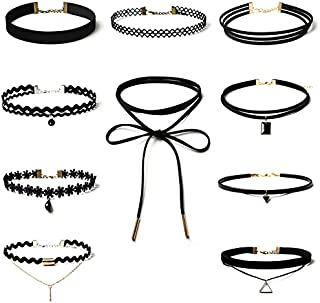 10 أسود المخملية قلادة الوشم المرونة حزمة