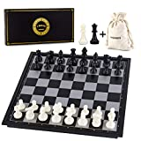 AMEROUS 10 Inches Magnetic Travel Chess Set with Folding...