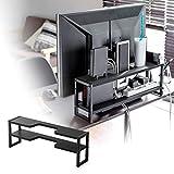 サンワダイレクト モニター裏 収納ラック コード配線 幅60cm 2段 総耐荷重5kg 200-STN047