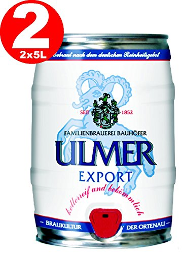 2 x Ulmer Export Partyfass 5,0 Liter 5,4% vol.