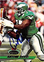 Autograph 124863 Philadelphia Eagles 1993 Topps Stadium Club No. 306 Antone Davis Autographed Football Card