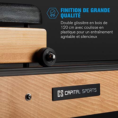 Capital Sports Stoksman 2.0 - Rameur à Eau, 120 cm, Écran LCD, Hêtre, Clair