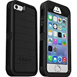 OtterBox Defender Series Rugged Case for iPhone SE (1st Generation ONLY), iPhone 5S, iPhone 5 - Case Only - Non-Retail Packaging - Black - with Microbial Defense