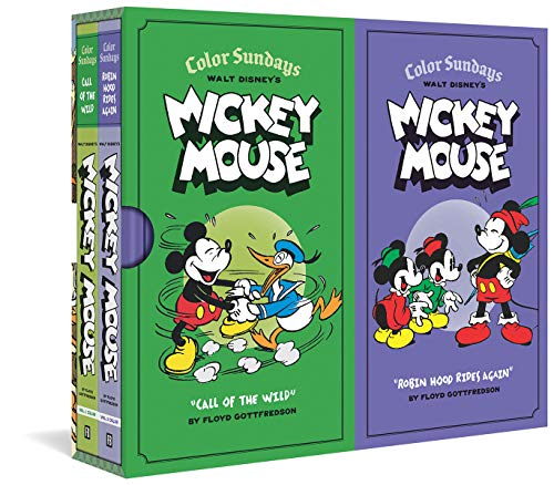 """Image of Walt Disney's Mickey Mouse Color Sundays Gift Box Set: """"Call Of The Wild"""" and""""Robin Hood Rises Again"""": Vols. 1 & 2"""