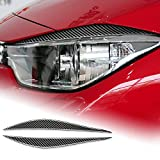 AIRSPEED Carbon Fiber Car Headlight Eyebrows Sticker Interior Trim Decals for BMW F30 320i 316i 3 Series 2013-2015 Accessories