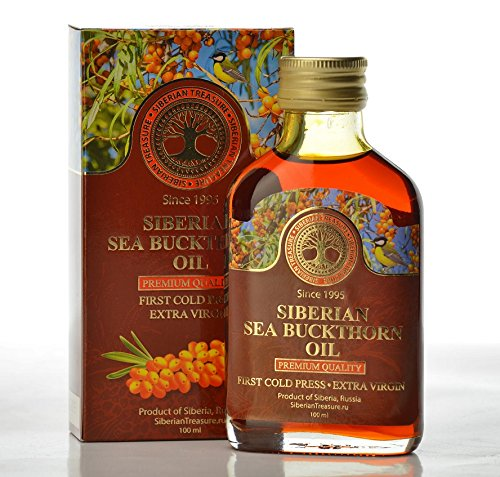 Siberian Sea Buckthorn Oil 100 Ml, Premium Quality, Extra Virgin, First Cold Press - 3.4 Fl Oz