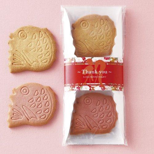 「おめで鯛」感謝を伝える紅白クッキーのプチギフト