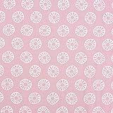 SCHÖNER LEBEN. Baumwollstoff Sonne Kreis rosa weiß 1,45m