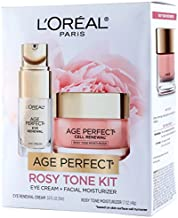 L'Oreal Paris Skin Care Giftable Kit with Age Perfect Rosy Tone Face Moisturizer & Eye Renewal Eye Cream, 1 Kit