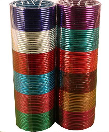 Touchstone Colección Brazalete Colorido India de Bollywood aleación Rica en Metales 12 magnífico y Vivo con Textura Colores Brazalete Pulseras Conjunto De 144 para Las Mujeres.