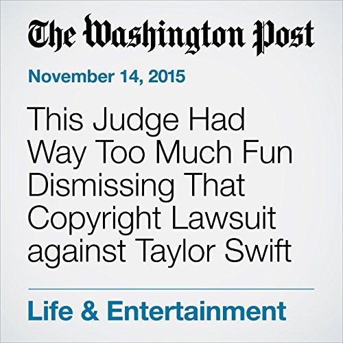 This Judge Had Way Too Much Fun Dismissing That Copyright Lawsuit against Taylor Swift audiobook cover art