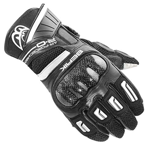 Berik Short-X Motorrad Sport Handschuhe 2.0 Kompromisslose Sicherheit (weiß, L)