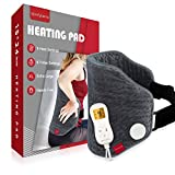 Upgraded Heating Pad for Back Pain Relief, Comfytemp XL Electric Heated Back Wrap with Strap, 9 Heat Settings, Stay On, 5 Auto-Off, Backlight for Cramps, Waist, Lower Back, Lumbar, Abdomen - 15'x 24'