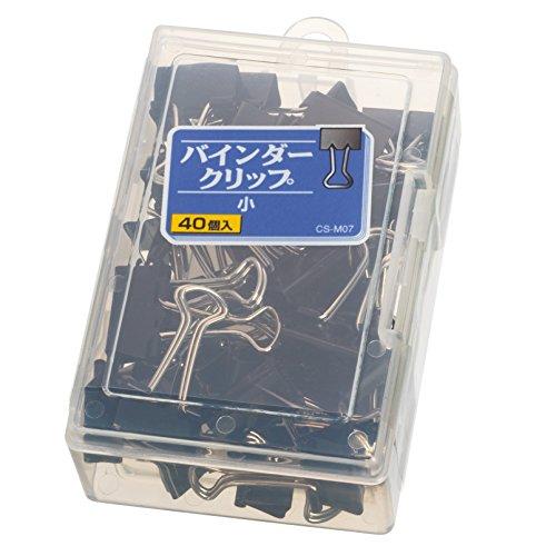 ライオン事務器 バインダークリップ 小 CS-M07 40個
