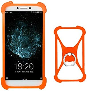 Lankashi Orange Stand Ring Holder Soft Silicone Protective Case Cover for BLUBOO x500 D1 D2 D6 X9 Gooweel M5 PRO M13 M17 S9 S7 Konrow Sky Easy One Link 55 Start Just5 Maze Alpha X Comet Blade Argos