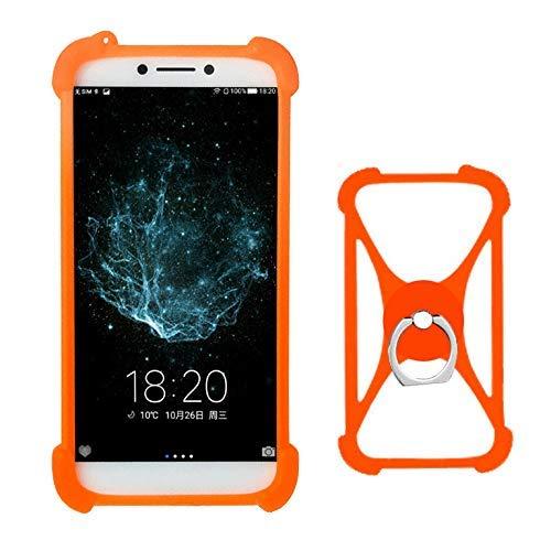 Lankashi Orange Silikon Schutz Tasche Hülle Case Ring Halter Ständ Cover Handy Etui Handyhülle Handytasche Für Nokia 6.1 2018 3.1 5.1 7.1 Coolpad Porto S Torino LeEco Cool 1 Letv 1 Pro Max 2 Universal