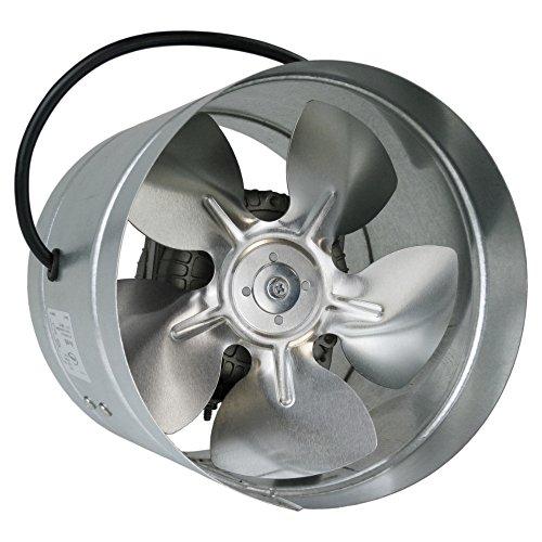 Conducto Inline 210mm fan de zinc de metal chapado en ARW la