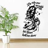 HNXDP Seien Sie derjenige, der mich führt, aber halten Sie mich niemals nieder Anker Zitat Schiff Sea Sails Cut Wandaufkleber Vinyl Home Decor Room Art Aufkleber 42x70cm