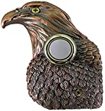 Waterwood Bronze Plated Eagle Doorbell - Wired & Illuminated Push Button Cast in Durable Polyresin