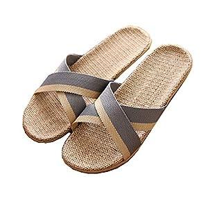 Zapatillas de Estar por Casa de Mujer/Hombre de Lino Zapatillas Interior Sandalias Unisex para Verano Primavera Otoño | DeHippies.com
