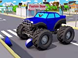 Learn different colors with the Big Truck and the Monster Trucks