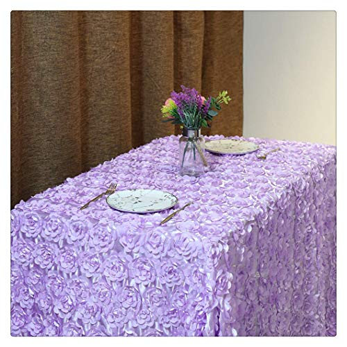 Miss Chang Rosette Lavande Mariage Nappe Parti Nappe Rose Nappe,47.2inches(1.2mround)